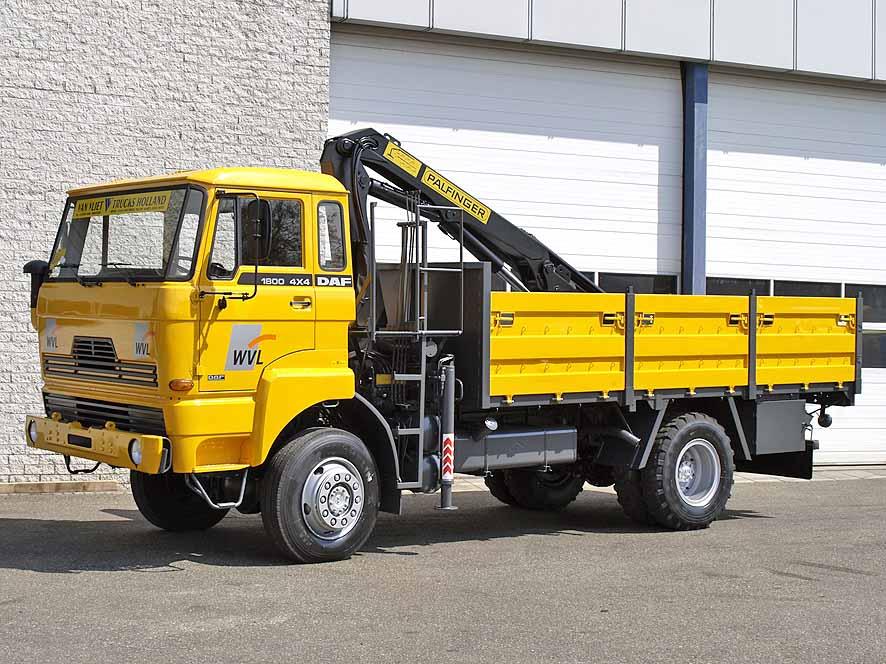 DAF 4x4 including three ton crane