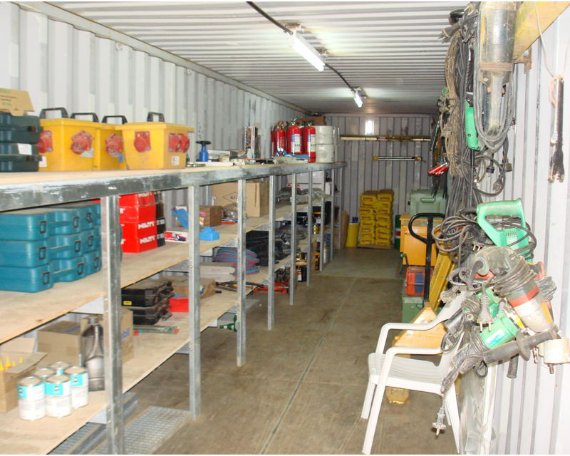Inside tool container