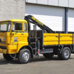 DAF 1800 including crane: TRUCK for rent Nigeria front side view