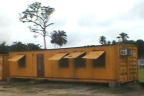 OFFICE CONTAINER: 40FT STEEL CONTAINER outside for rent Nigeria