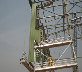 SUSPENDED SCAFFOLDING front view for rent Nigeria