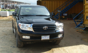 Toyota  Landcruiser V8: CARS AND JEEPS front view for rent Nigeria